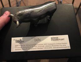 """DDV-Preis für Wirtschaftsjournalisten 2017 """"Online-Medien"""" gewonnen!"""