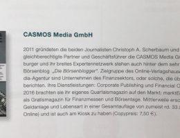 CASMOS Media im SZV-Jahresbericht 2017/2018