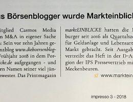 marktEINBLICKE Re-Branding im SZV-Magazin Impresso